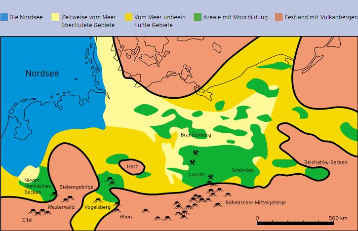 Moorgebiete Tertiär